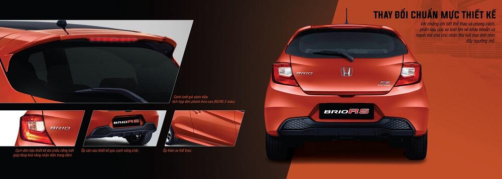 Đuôi xe Honda Brio RS